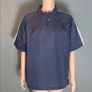 Holloway Mens Navy Athletic Shirt Jacket SZ.XL